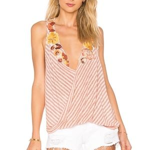 Free People Frida Floral Embroidered Tank Top